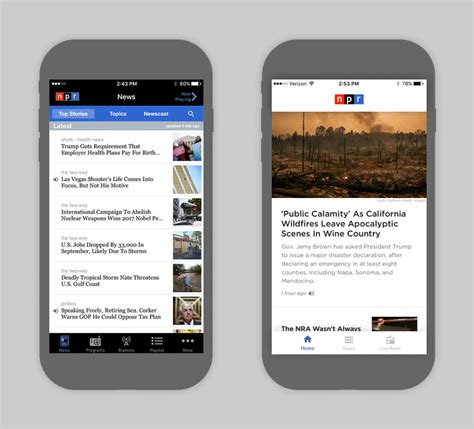 newspaper layout app design show and tell the npr news app gets a facelift