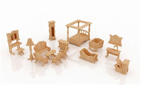Dollhouse Furniture Set by New Dollhouse Furniture Set One Furniture Makecnc