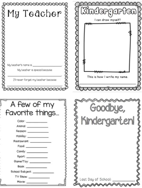 printable yearbook template kindergarten memory book kindergarten memory books