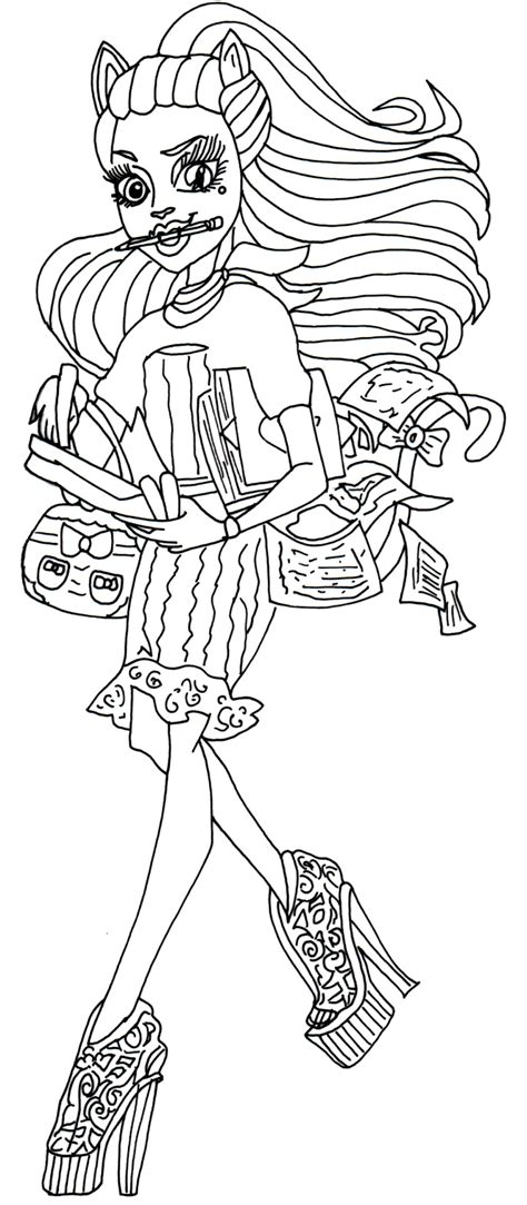 monster high coloring pages catrine demew free printable monster high coloring pages catrine demew