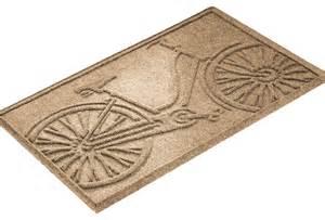 bicycle doormat aqua shield 2 x3 bicycle mat contemporary doormats