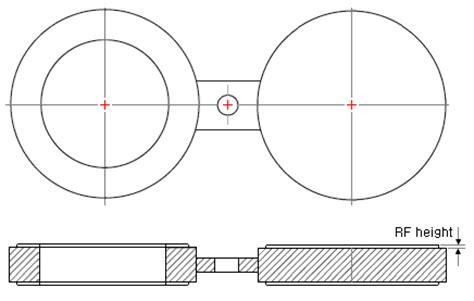 Blinde Flange Dimensions Of Spectacle Blinds Asme B16 48 For