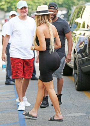 Khloe Black khloe in black dress out in la