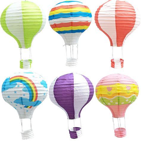Air Balloon Lantern Lentera 35cm rainbow printing paper lantern air balloon wedding decoration children s bedroom