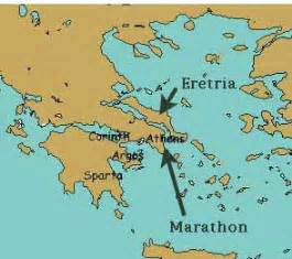 Marathon Greece Map by First Persian War Ancient Greece For Kids