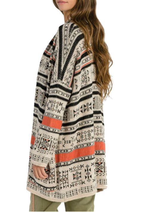 Kaos T Shirt Wanita Import Yellow Base Striped 192192 billabong printed aztec cardigan from vancouver by boutique shoptiques