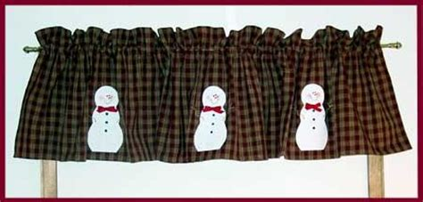 Snowman Curtains Kitchen Snowman Valance Kitchen Snowman And Valances