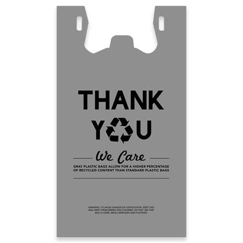Ecofriendly 6 T Shirt eco friendly thank you plastic t shirt bag 30