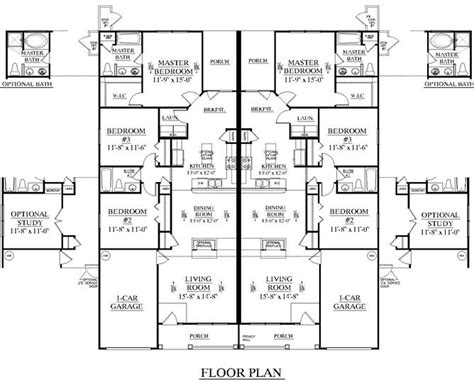 southern heritage home designs duplex plan 1261 a southern heritage home designs duplex plan 1392 a