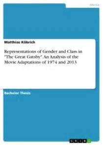 gender analysis in the great gatsby representations of gender and class in quot the great gatsby