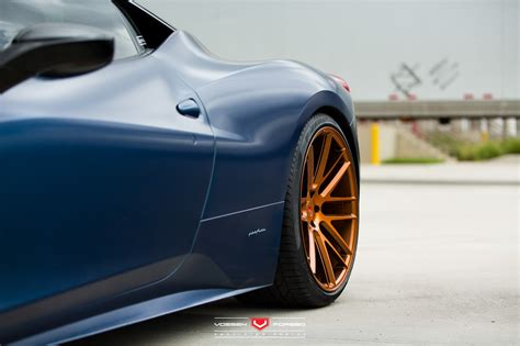 458 italia gets flip plastidip paint and vossen wheel autoevolution