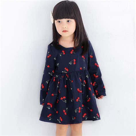 aliexpress kids cherry baby dresses for girls long sleeve princess dress