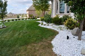 white landscaping white marble indianapolis decorative rock mccarty mulch