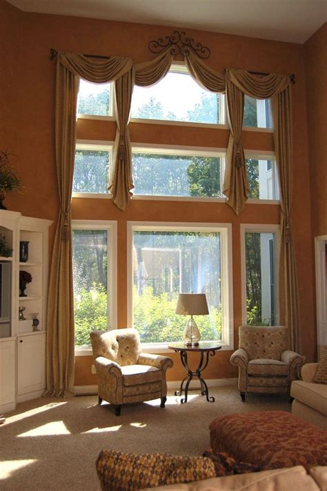 high window coverings wonderful window treatments for high windows with great