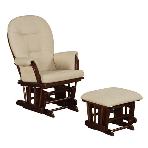 Glider Rockers And Ottomans Glider Rocker With Ottoman Baby Nursery Bowback Glider Rocker Rocking Chair Espresso Finish