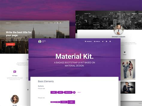 tutorial material design web 30 material design html5 templates available for download