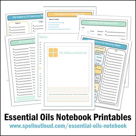 printable essential oil journal essential oils notebook printables