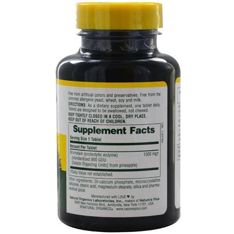 Suplemen Bromelain Nature S Plus Bromelain Supplement 1500 Ultra Maximum