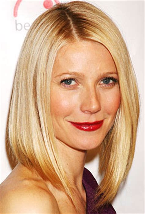 long bob hairstyles gwyneth paltrow sleek lob 7 medium length hairstyles to get you out of a