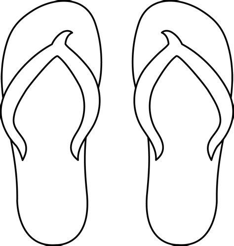 template of flip flops flip flops line free clip