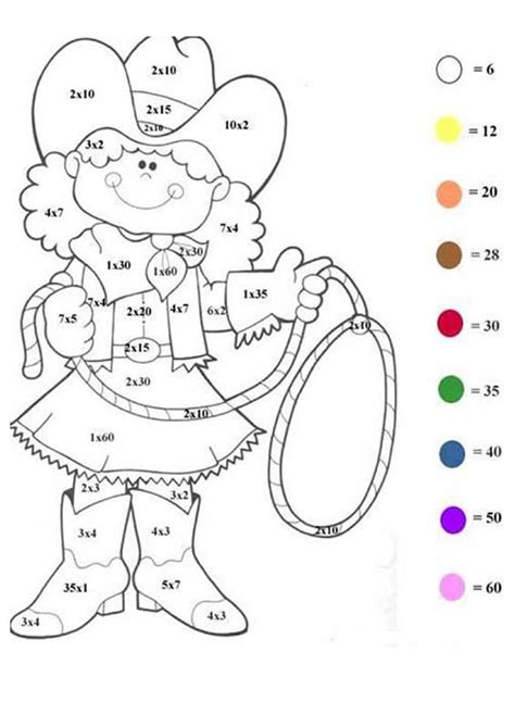 Galerry math color by numbers printable worksheets