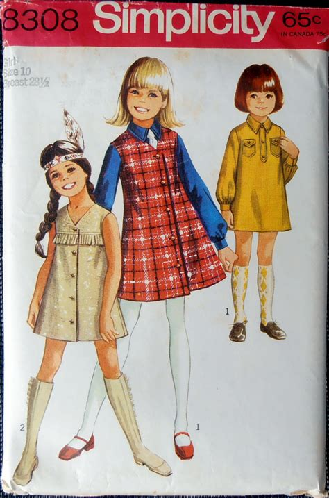 jumper pattern simplicity girls jumper pattern simplicity 8308 sewing pattern size
