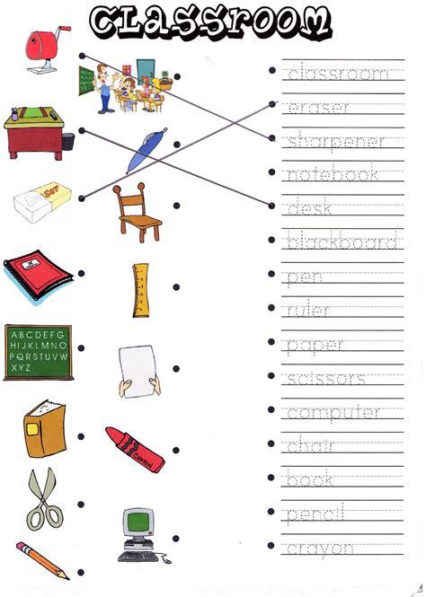 Classroom Worksheets by Joinin Speakup Teachernick Classroom Objects