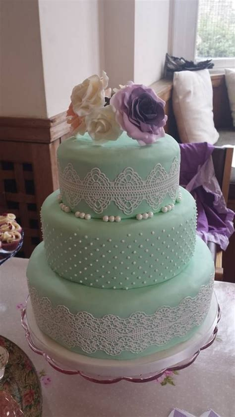 48 Delicate Mint And Lavender/Purple Wedding Ideas   Cake