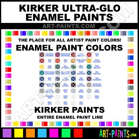 kirker ultra glo enamel paint colors kirker ultra glo paint colors ultra glo color ultra glo