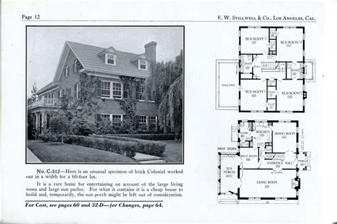 1925 bungalow house plans chicago bungalow house plans 1925 stillwell c 512 vintage house plans 1920s