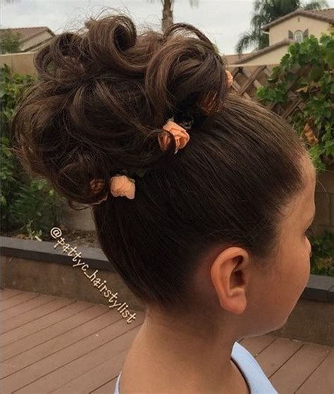 hairstyles with buns and curls 20 flawless flower girl hairstyles