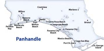 map of panhandle florida destin florida map images