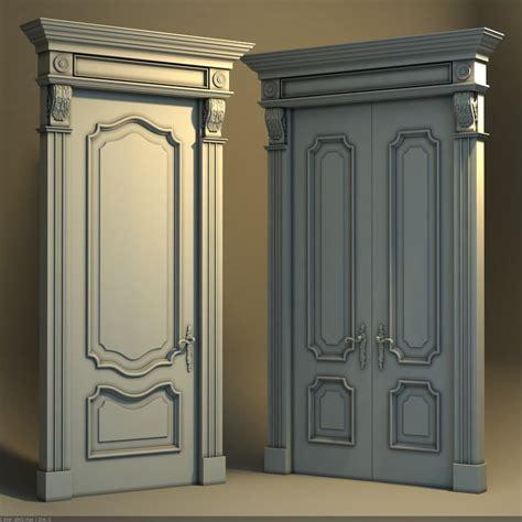 porte 3d classic door 3d model