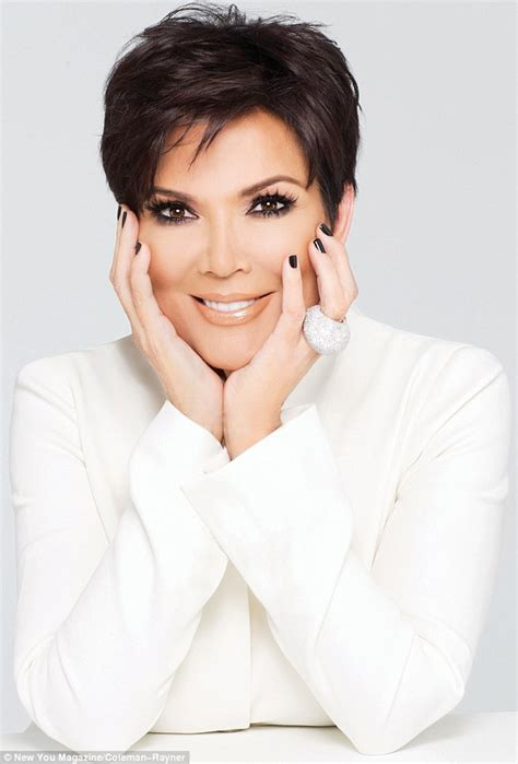 photo of kim kardashians mothers hairstyle kris jenner poses in raunchy black lace outfit for