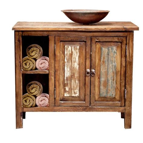 Reclaimed Wood Bathroom Vanity Rustic Bathroom Storage