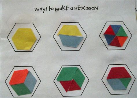 pattern making with different shapes kindergarten superkids ways to make a hexagon