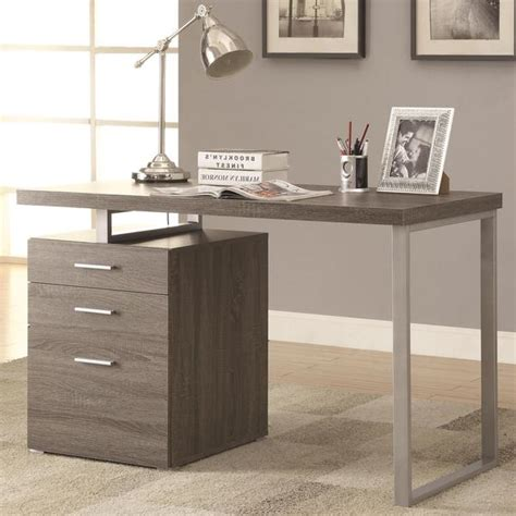 grey desk with drawers shop modern design home office weathered grey writing