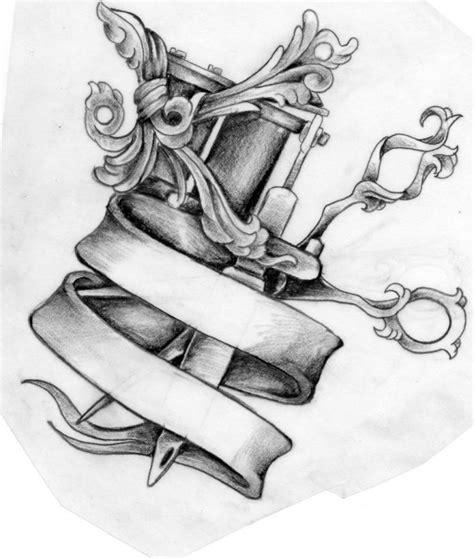 tattoo machine design oriental elements at tattoo design