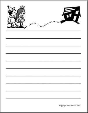 abcteach printable writing paper cute lined paper halloween printable abcteach