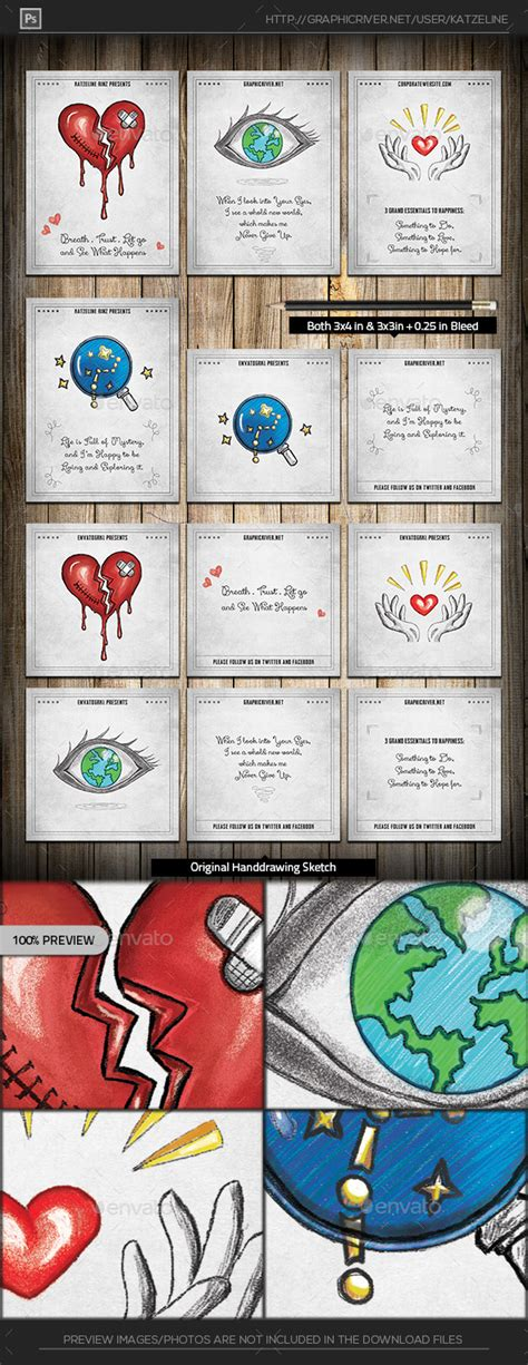 mini greeting card template drawing mini greeting card template graphicriver