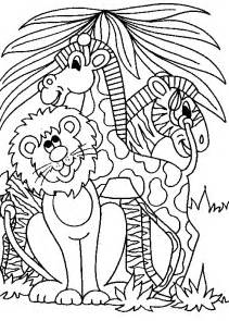 jungle animals kids coloring pages