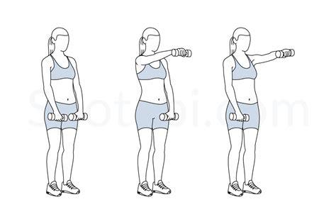 shoulder press diagram dumbbell front raise illustrated exercise guide
