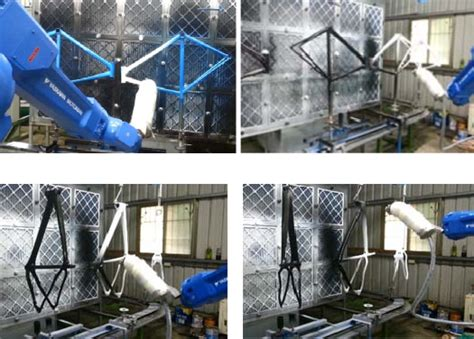spray painting robot pdf trained robot autonomously spray paints bicycle frames
