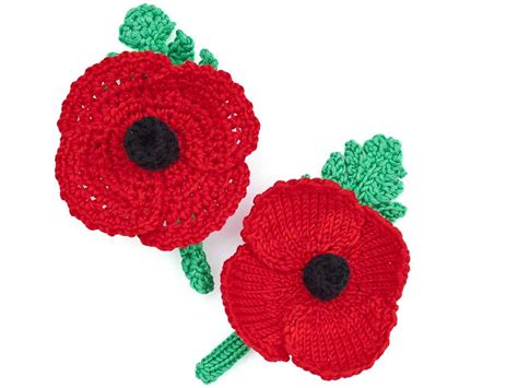 free pattern for knitted poppies how to make a knitted or crochet poppy wreath