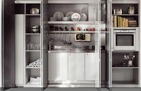 armario cocina cocinas ocultas en un armario perfectas para hogares