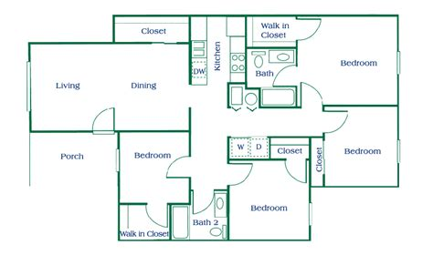 4 floor apartment plan columbus apartments floor plans