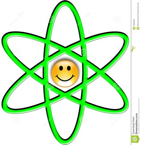 Nuclear Symbol For Proton by Illustration Of The Atom Symbol Stock Images Image 10961894