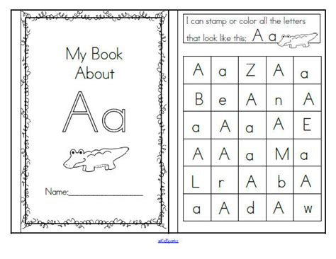 Letter Identification Worksheets by Alphabet Recognition Activities 26 Booklets 106 Pages