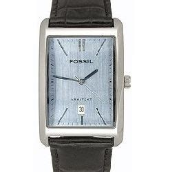 Fossil Fs 4835 Leather Blue Black Grade fossil fs3084 stainless steel watchallure