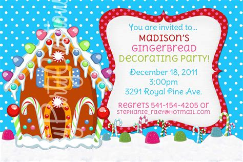 printable gingerbread house invitations gingerbread house invitation you print by prettypartycreations